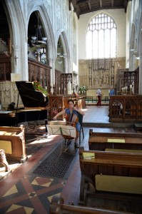 Long Melford interior
