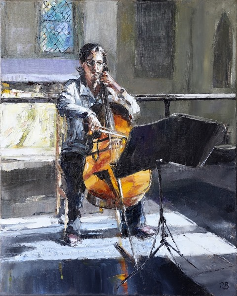 Cellist by David Porteous-Butler