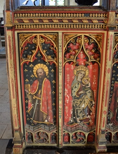 Woolpit rood screen