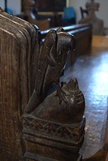 Barsham bench end 1