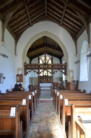 St Peter South Elmham interior