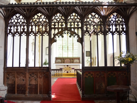Barking rood screen