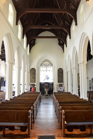 Newmarket St Mary's interior 2