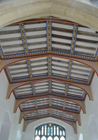 Bacton chancel roof