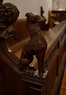 Huntingfield bench end