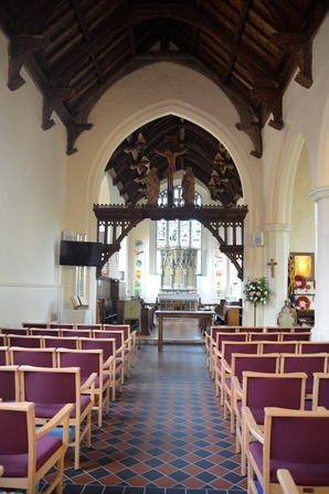 Capel St Mary interior