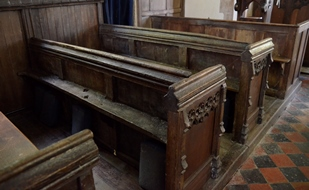 Little Wratting pews
