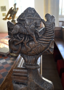 Withersfield bench end 3
