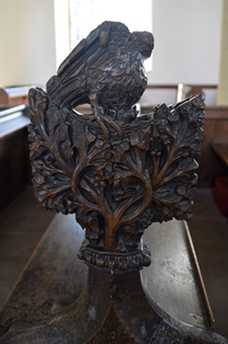 Withersfield bench end 4