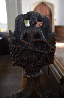 Withersfield bench end