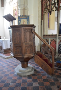 Withersfield pulpit