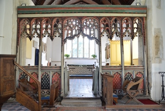 Withersfield rood screen