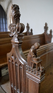 Aspall bench end 2