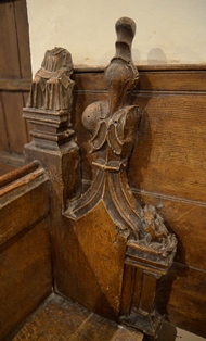 Bedingfield bench end 2