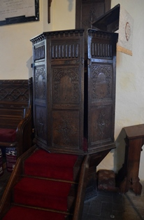 Great Blakenham pulpit