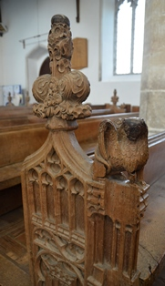 Fressingfield bench end 3