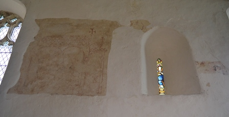 Ilketshall St Andrew wall painting 2
