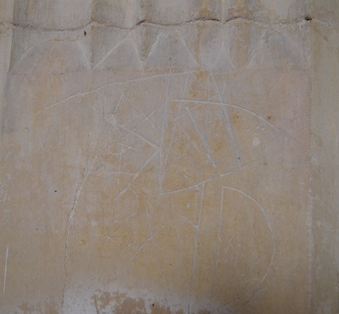 St Margaret South Elmham graffiti