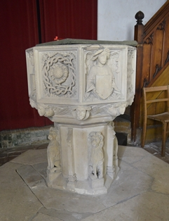 Creeting St Peter font