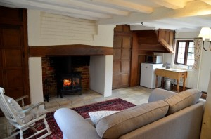 Sitting room: the place to get cosy...